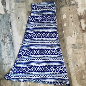 Soft and flowy tribal print maxi skirt